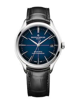 Clifton Baumatic COSC Blue Dial Leather M0A10467