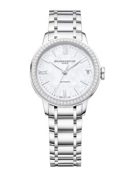 Classima Mother-of-Pearl Automatic with Diamond-Set Bezel M0A10479