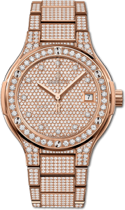 Hublot Gold White Pavé Ref. 361.PE.2010.RW.1704 women's luxury watches