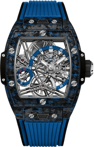 hublot spirit of big bang tourbillon carbon blue baselworld 2019