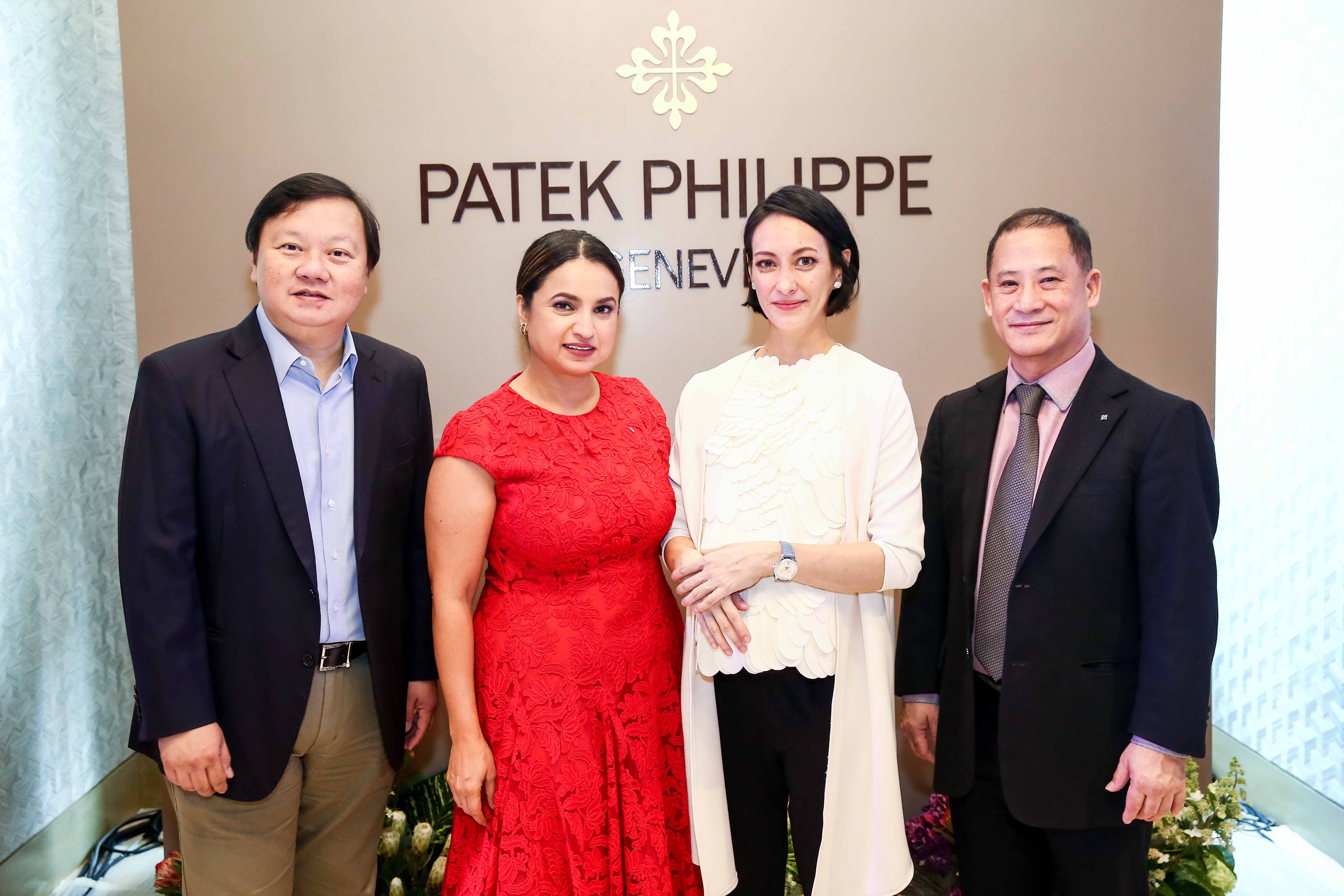 Ivan Yao with Deepa Chatrath, Filipina bag designer Bea Valdes and Patek Philippe regional sales manager David Chan.