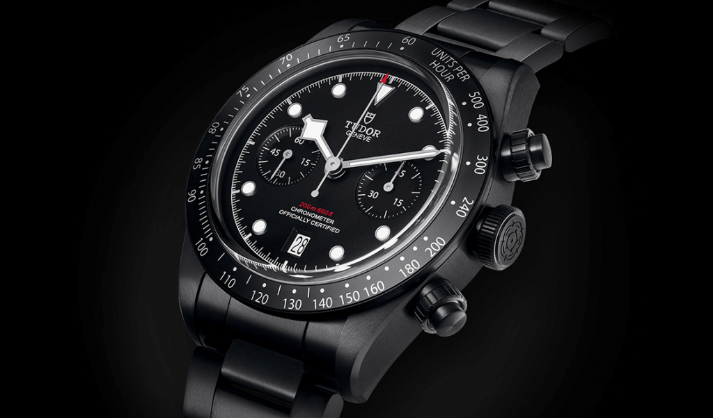 tudor timekeeper 2019 black bay chrono dark luxury watch