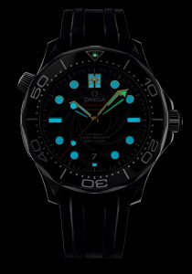 Omega Seamaster Diver 300M James Bond special edition in the dark