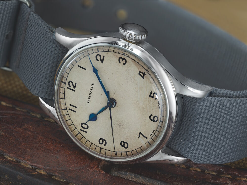 The original Longines 1940s watch that inspired the Heritage Military