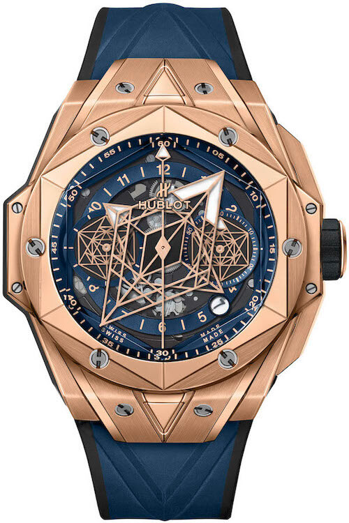 Hublot Big Bang Sang Bleu II King Gold