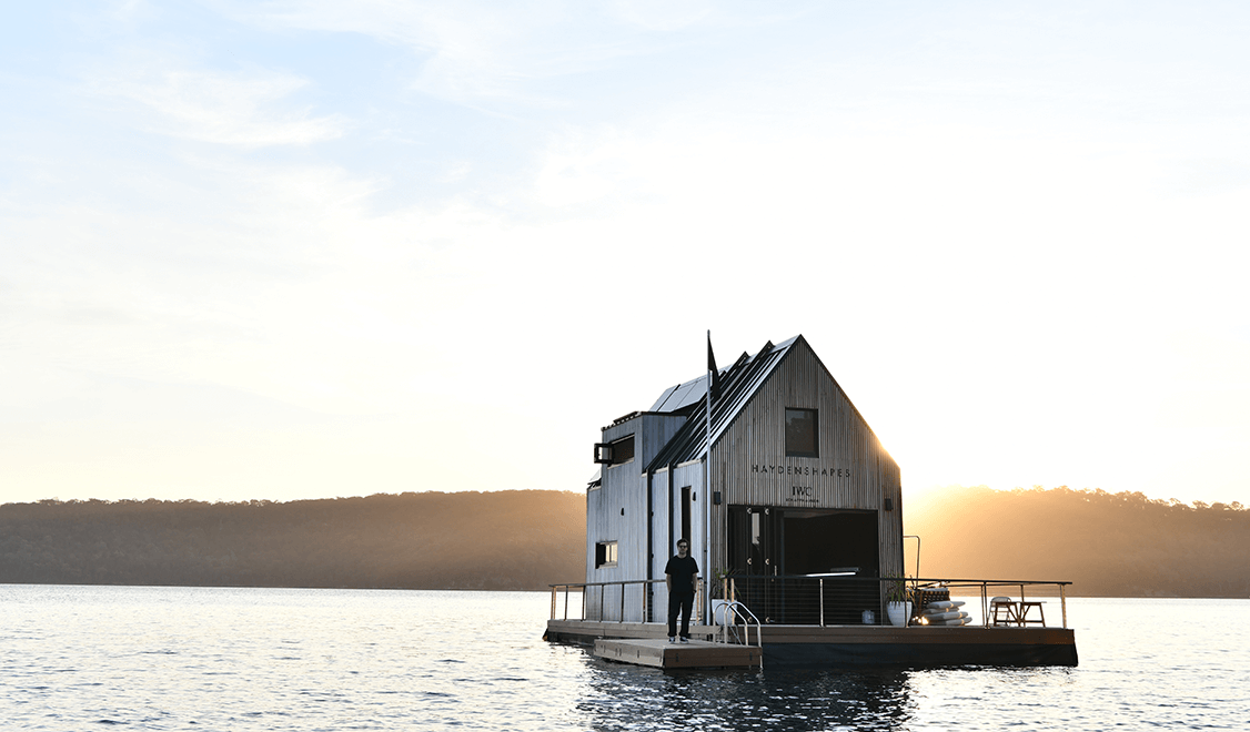 IWC Schaffhausen Sustainable pop-up floating workshop 'Remote'