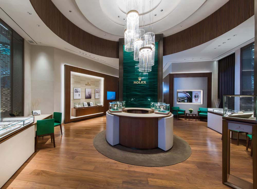 Rolex boutique Podium interiors
