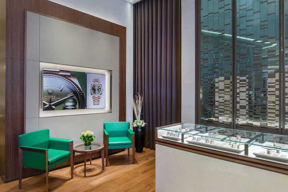 Rolex Podium boutique interiors