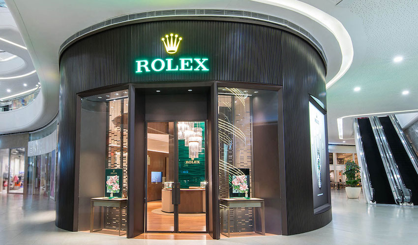 Rolex Podium boutique banner